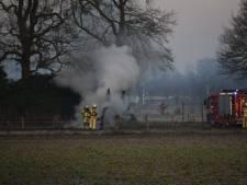 Flinke rookontwikkeling bij brand in boerderij in Buurse