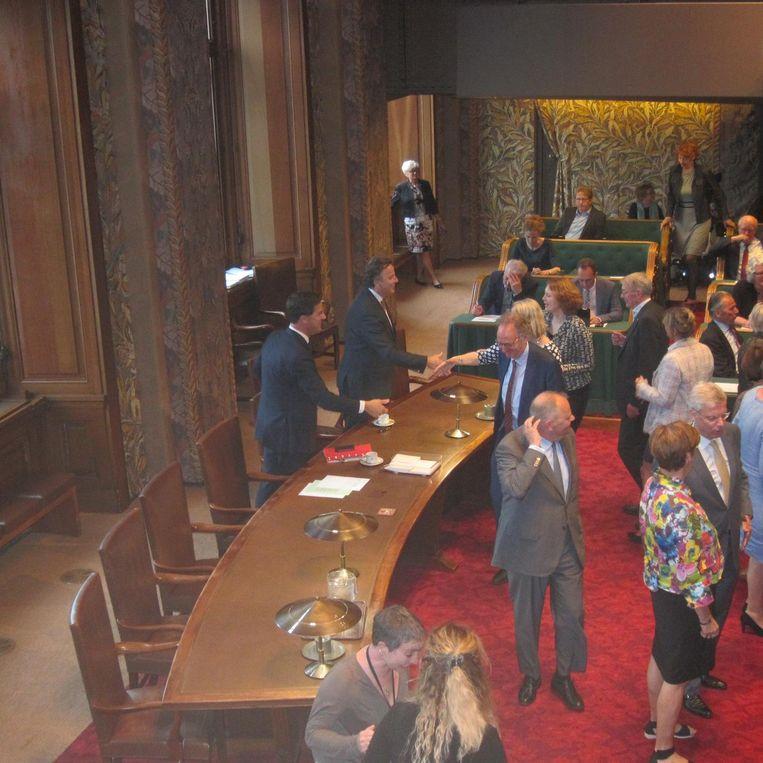 ...zijn er felicitaties voor Rutte en Koenders... Beeld