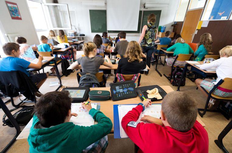 Ongeveer de helft van de leerlingen in het Gemeenschapsonderwijs is dit schooljaar met een zekere mate van leerachterstand begonnen. Beeld Joost De Bock