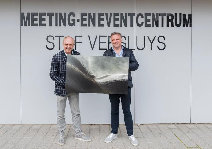 Eddy Verloes met burgemeester Steve Vandenberghe