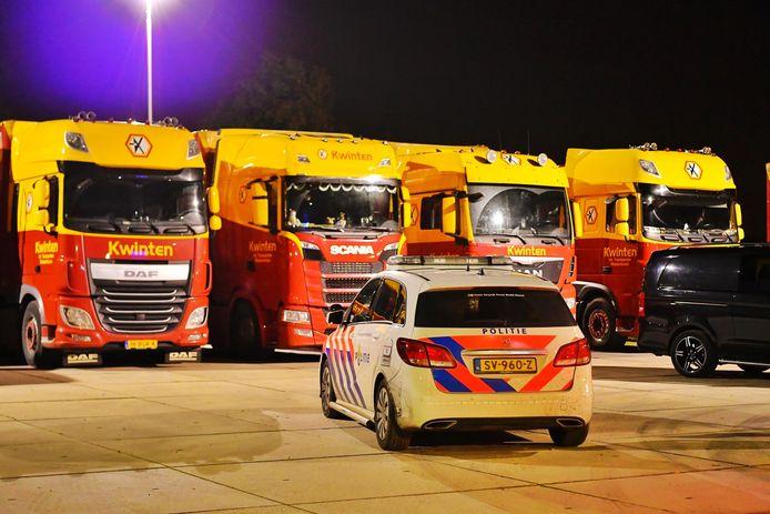 Overval op het terrein van een transportbedrijf in Westerhoven.