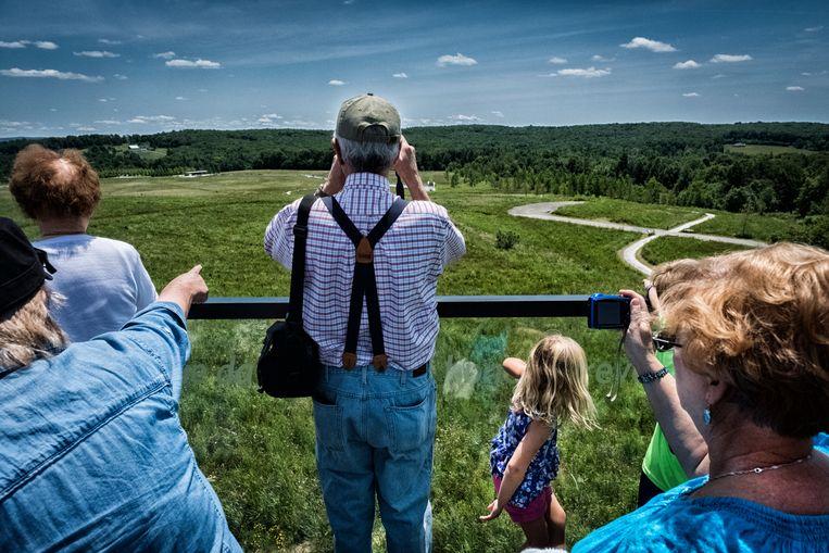 De herdenkingsplek in Shanksville waar Flight 93 neerstortte. Beeld Tim Dirven