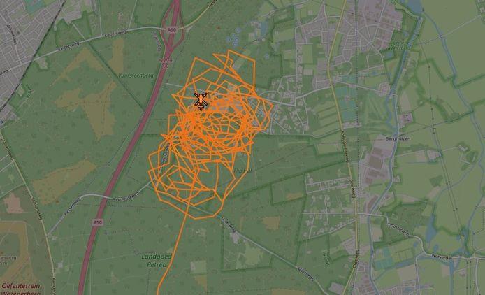 Een politiehelikopter zocht mee naar de vermiste vrouw bij Hattem.