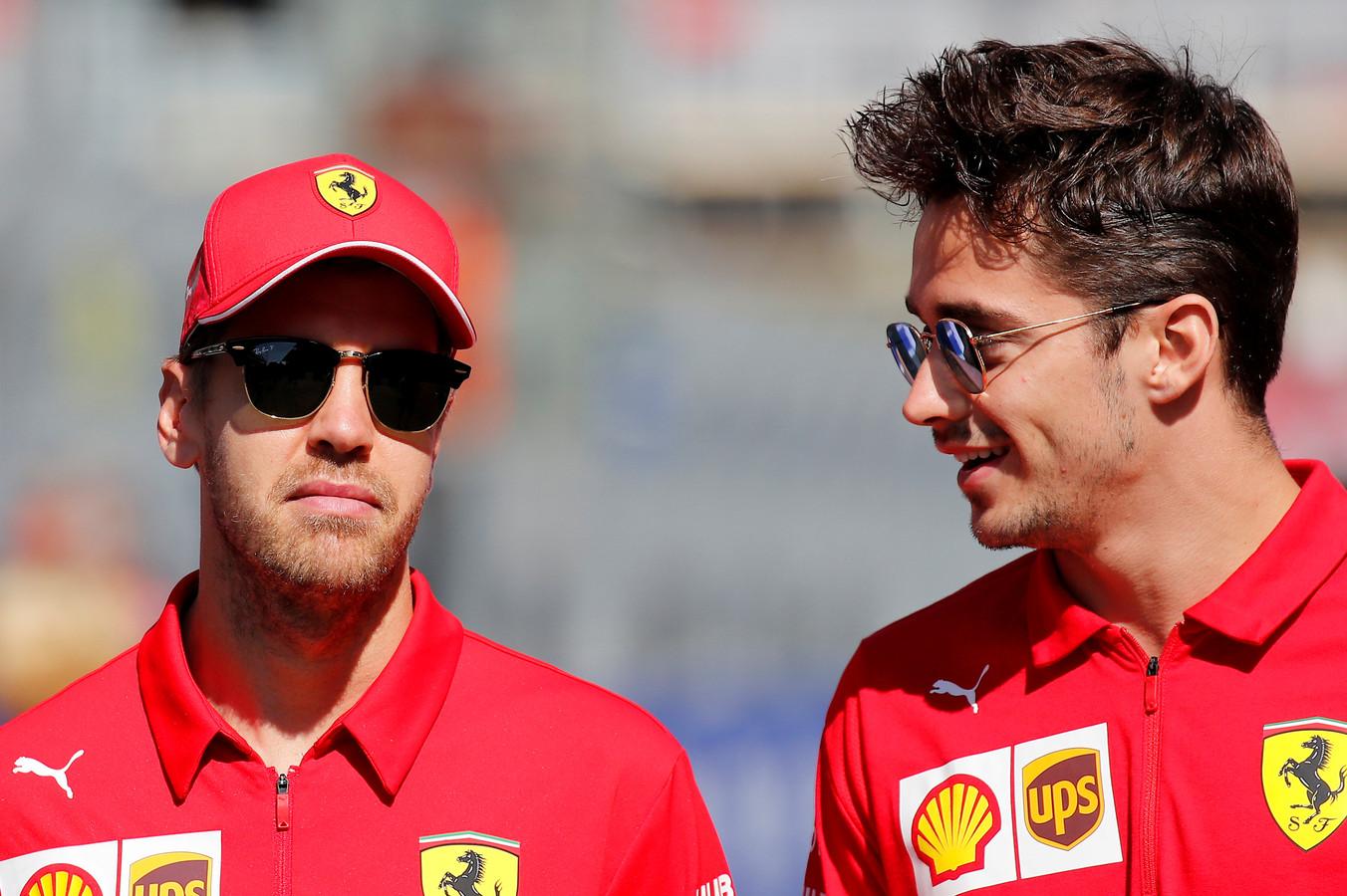 Er staat spanning op de relatie tussen Sebastian Vettel en Charles Leclerc.