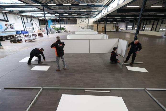 De XL-priklocatie aan de Haverdijk in Helmond in opbouw