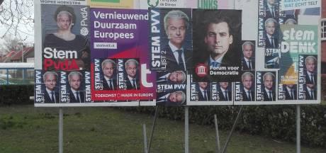 Partijen maken misbruik van verkiezingsborden