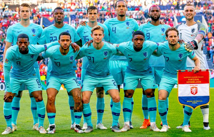 Oranje voor het duel met Portugal.