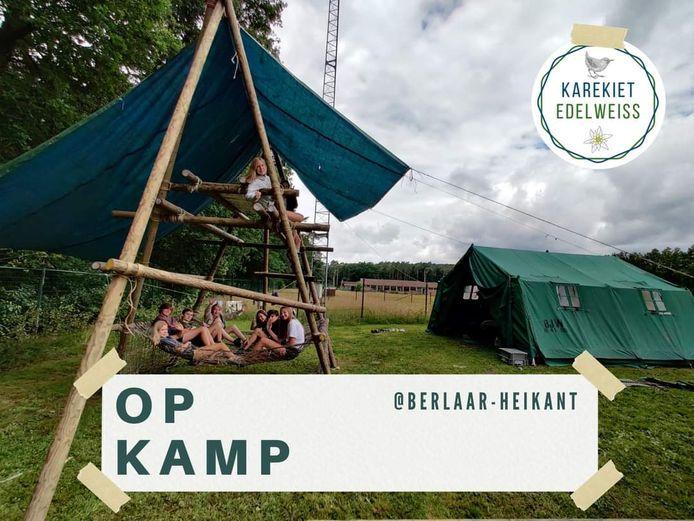 Karekiet had haar tenten opgeslagen in Berlaar.