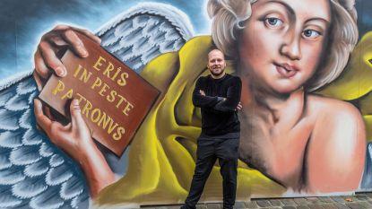 Loop eens rond de Sint-Martinuskerk en bewonder de Rubens-straatkunst