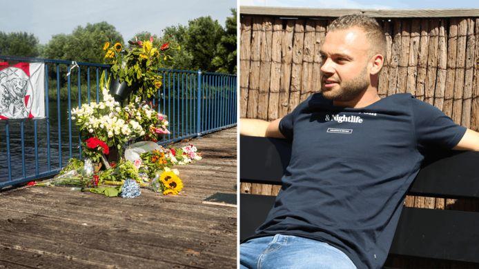 Bas van Wijk (rechts) werd doodgeschoten op een steigertje in recreatiegebied De Oeverlanden.