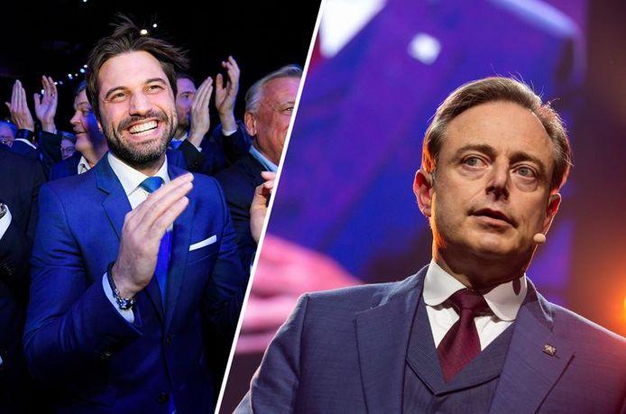 Georges-Louis Bouchez et Bart De Wever, les présidents du MR et de la N-VA.