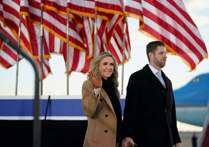 Lara en haar man Eric, de zoon van oud-president Donald Trump.