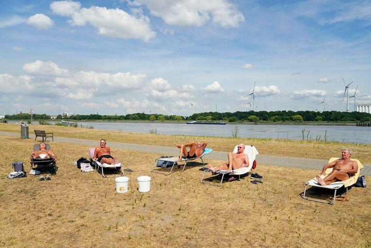 Dit weekend worden er zomerse temperaturen verwacht, goed nieuws voor zonnekloppers. Beeld Joris Casaer