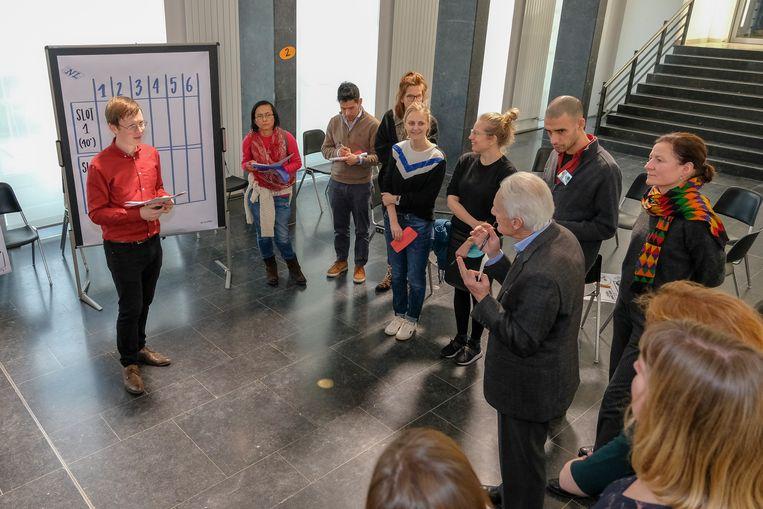Slotdag stadsforum Nederlands in Brussel: één van de workshops.