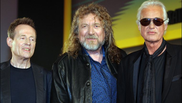 John Paul Jones, Robert Plant en Jimmy Page van Led Zeppelin. Beeld PHOTO_NEWS