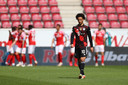 Leroy Sané treurt na de goal van FSV Mainz 05.