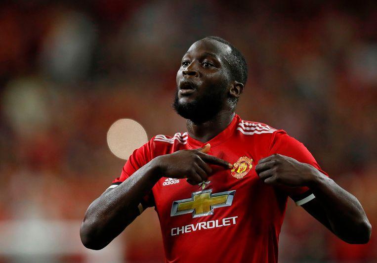 Romelu Lukaku verhuisde deze zomer van Everton naar Manchester United voor 85 miljoen euro. Beeld AFP