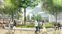 Zo zou het nieuwe Prins Alexanderplein er in de toekomst uit kunnen gaan zien. De groene aanpak vergt zeker 14 miljoen euro.