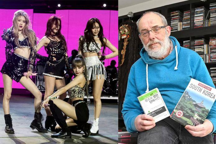 Guido Bouckenooghe raakte gefascineerd door de Aziatische cultuur tijdens reizen en ontdekte zo ook K-pop. Zijn favoriete band is Blackpink (op foto links).