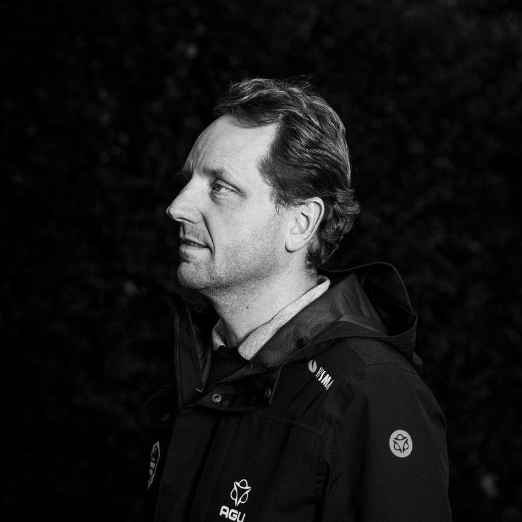Merijn Zeeman: 'De gewenste veilige omgeving konden we in de Giro d'Italia niet garanderen. Dan is er maar één oplossing: met z'n allen naar huis. Mensen wegen zwaarder dan prestaties.' Beeld Jiri Büller