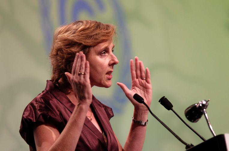 Europees Commissaris voor Klimaat Connie Hedegaard. Beeld EPA