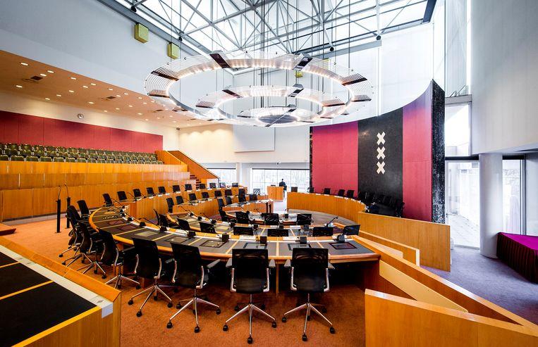 De raadzaal in het stadhuis van Amsterdam Beeld ANP XTRA