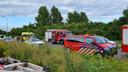 Hulpdiensten op de plek van het ongeval in IJsselstein, vorige week vrijdagavond.
