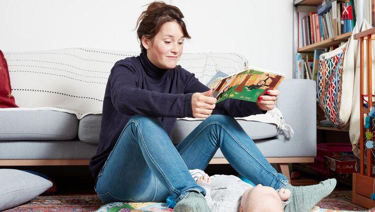 Marjolijn van Heemstra met Eyse, haar zoontje. Beeld Erik Smits