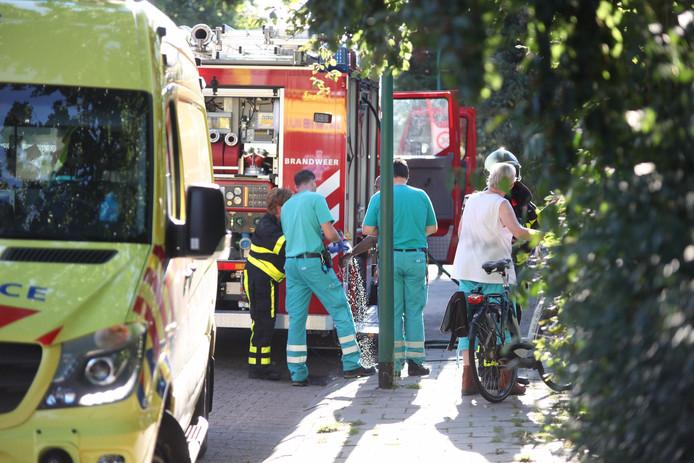 Eén persoon liep brandwonden op bij de brand.