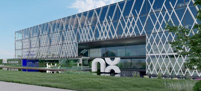 Impressie van de nieuwe fabriek in Hengelo, waar binnen enkele jaren 275 mensen gaan werken voor NX Filtration.