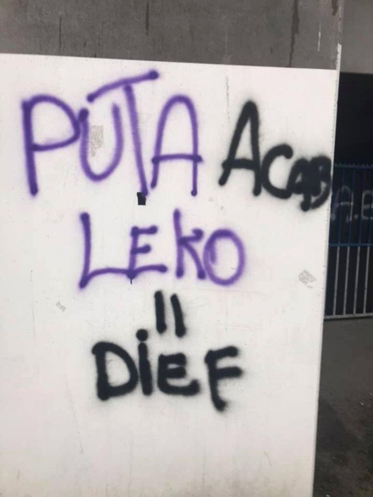 De graffiti is weinig fraais.