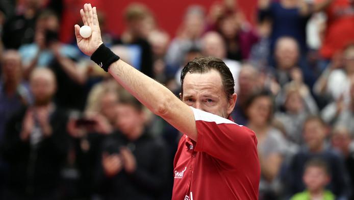 Jean-Michel Saive a joué (et gagné) son dernier match jeudi soir à Auderghem.