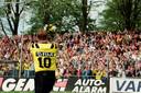 Ton Lokhoff bij zijn afscheid als voetballer.