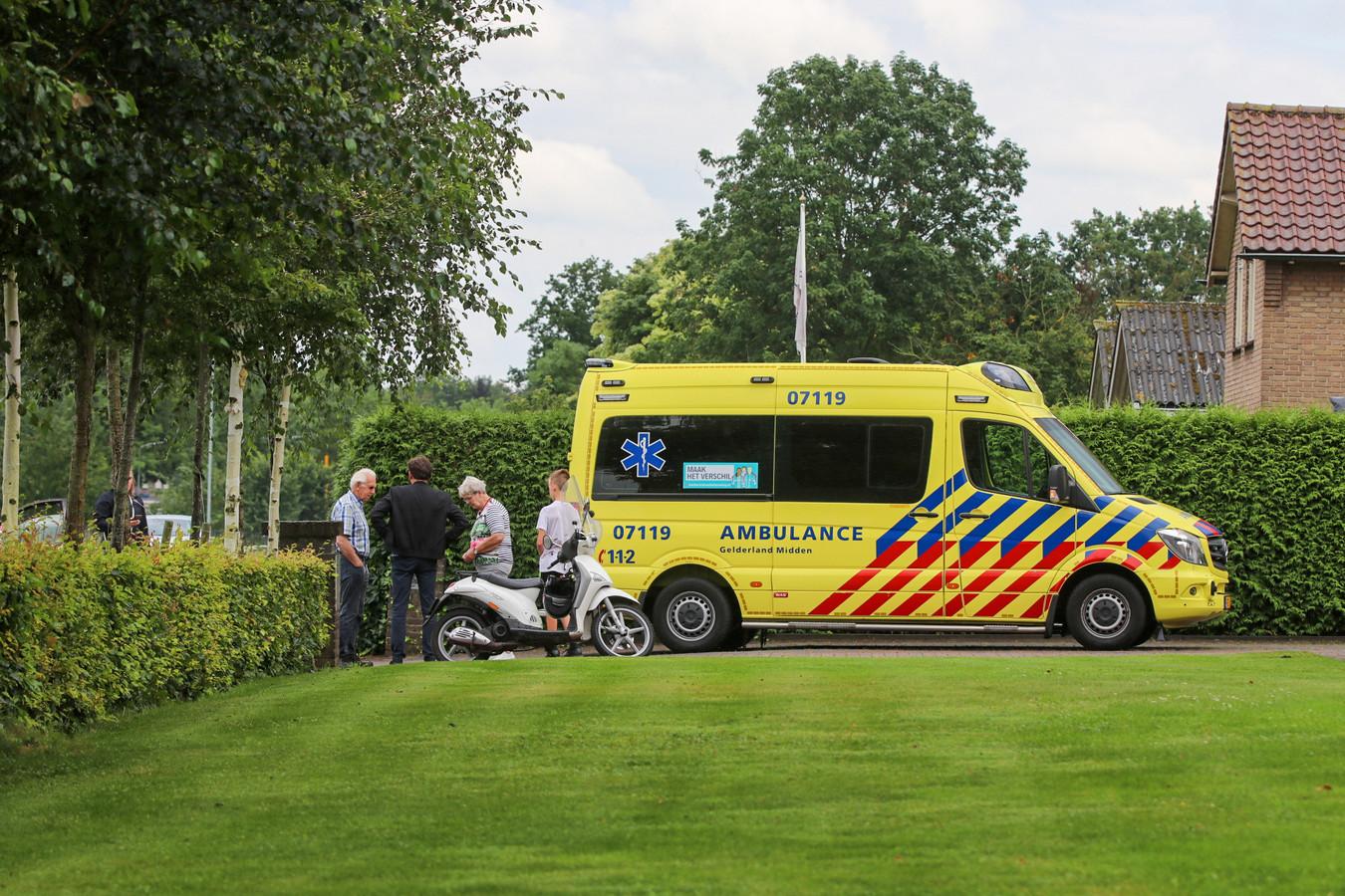 Scooterrijder gewond na valpartij Terschuur.