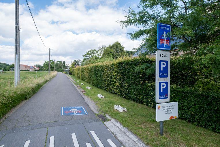 De Fietsstraat in de Hoge Zandvelden in Reet.