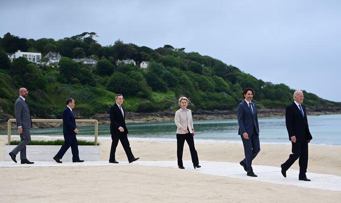 De G7-top in Carbis Bay, Cornwall.