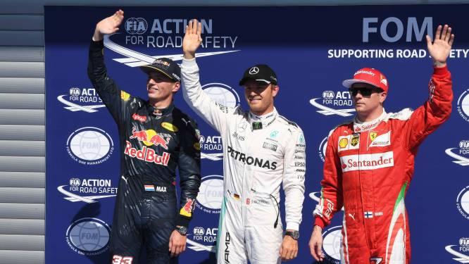Rosberg pakt pole in Spa, 'thuisrijder' Verstappen mee op eerste rij