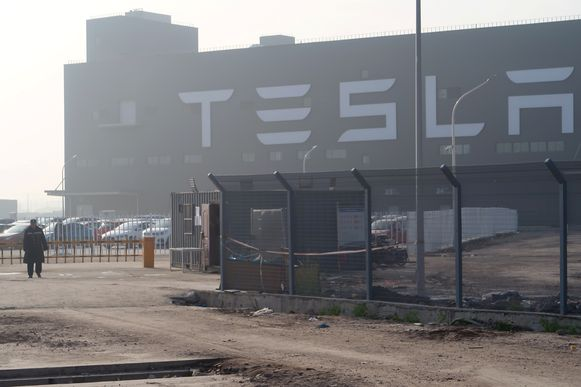 De eerste gigafabriek van Tesla  in China.