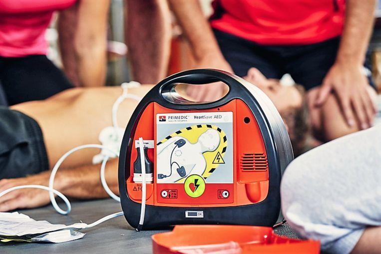 CardioService leverde acht AED-toestellen zoals dit exemplaar op de foto.
