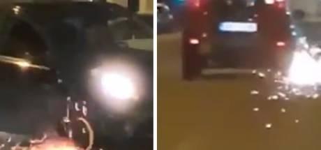 Une voiture avance péniblement sur une jante: la vidéo qui cartonne sur Facebook