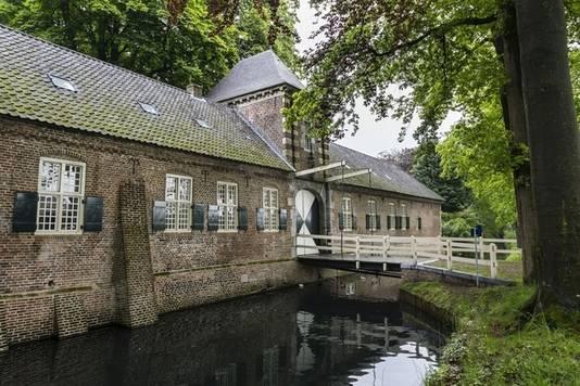 Het poortgebouw van het kasteel in Gemert.