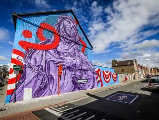 Brugge, die Scone: streetartfestival The Bridges toont negen majestueus beschilderde gevels