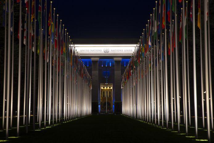 Het hoofdkwartier van de Verenigde Naties in Genève