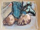 Illustration de l'arrestation qui a coûté la vie à George Floyd.