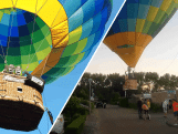 Luchtballon maakt noodlanding midden in woonwijk