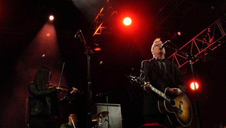 Flogging Molly-frontman Dave King (rechts): van God los. Beeld UNKNOWN