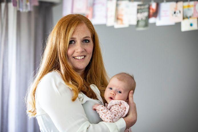 Patricia Luyerink is acht weken terug bevallen van dochter Mirthe.