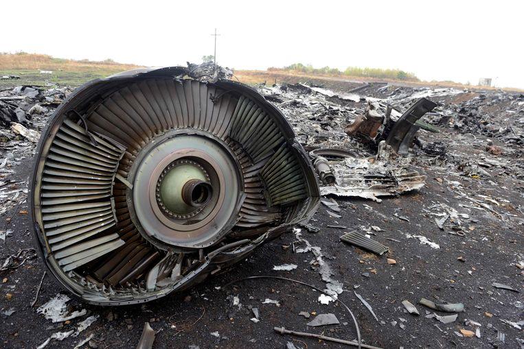 Archiefbeeld, brokstukken van vlucht MH17.  Beeld AFP