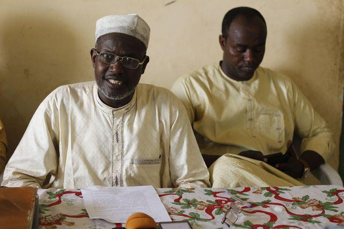 Mahamat Bichara, leider van een opssositie partij in Tsjaad en woordvoerder van de coalitie van 30 politieke partijen