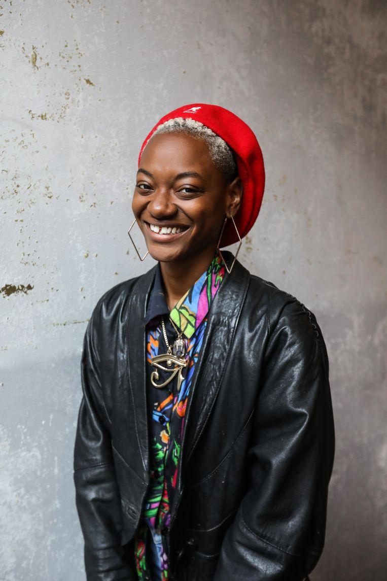 Cherella Gessel: 'In theater, maar ook in de hiphop in Nederland, is weinig representatie voor mij als queer, zwart, female bodied persoon van Afro-Caribische afkomst.'  Beeld Eva Plevier